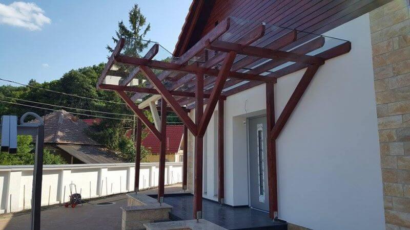 Elő tető üvegezés